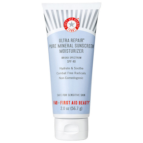 First Aid Beauty Ultra Repair Pure Mineral Sunscreen Moisturizer SPF 40 [2 oz (59 ml)]