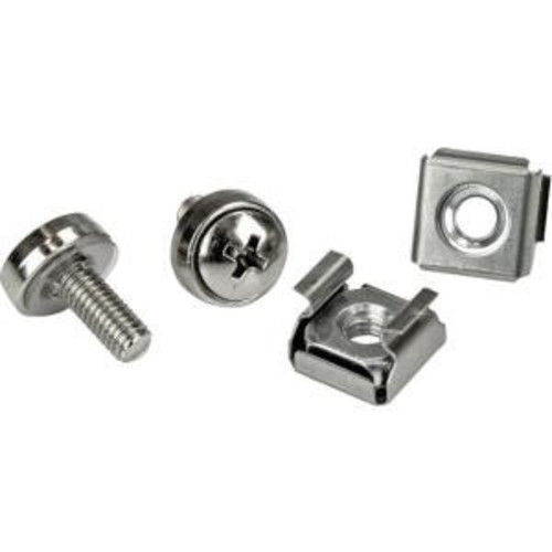 StarTech.com M5 Mounting Screws and Cage Nuts for Server Rack Cabinet (Pack of 100)