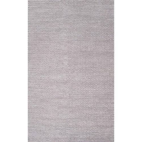 nuLOOM Chunky Woolen Cable Light Grey 5 ft. x 8 ft. Area Rug