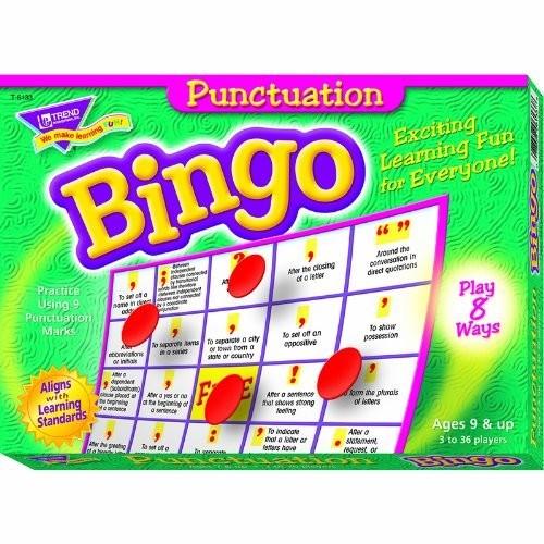 Punctuation Bingo Game Board Game