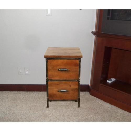 Y Decor Lafayette Medium Brown File Cabinet