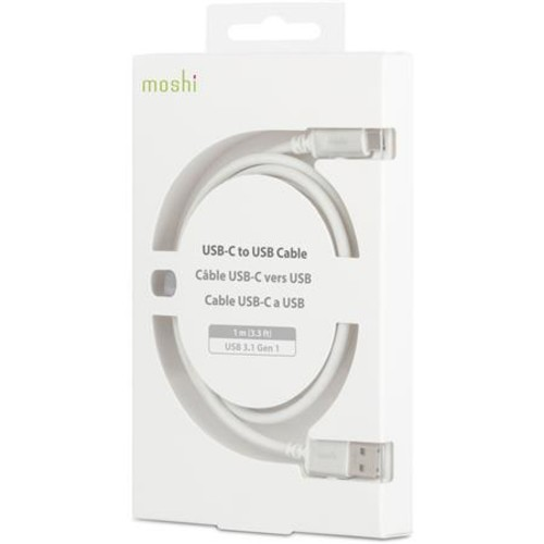 USB 3.0 Type-C Male to USB Type-A Male Cable (3.3', White)