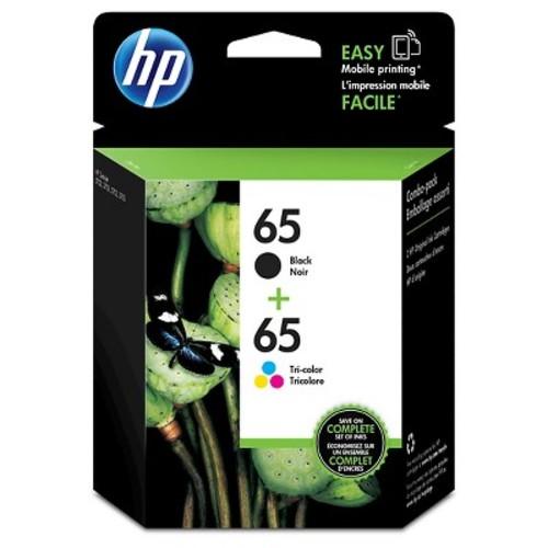 HP 65 (T0A36AN) Black; Tri-Color Original Ink Cartridge, 2/Pk