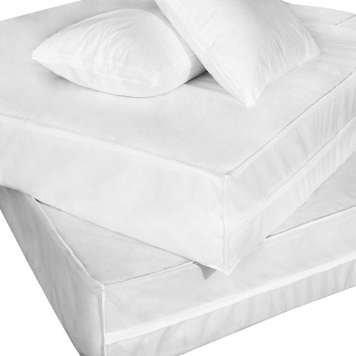 Polypropylene Complete Mattress Protector Set - Size: Queen