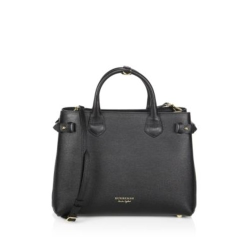BURBERRY Banner Leather Satchel
