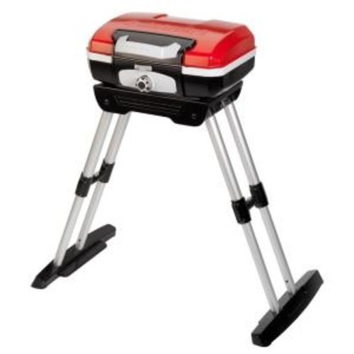 Cuisinart Petit Gourmet 1-Burner Portable Propane Gas Grill in Red with VersaStand
