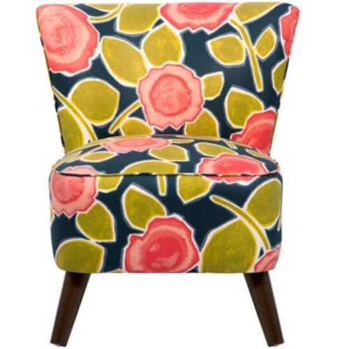 Bungalow Rose Crown Side Chair; Beale Garden Poppy