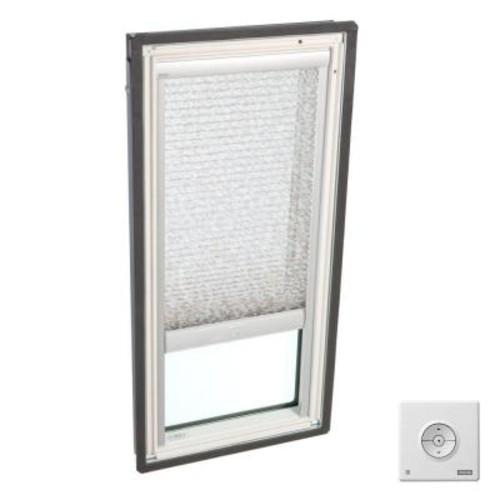 VELUX Solar Powered Light Filtering Misty Brown Skylight Blinds for FS C01 Models