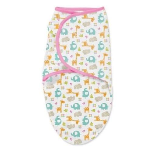 Summer Infant SwaddleMe Pink Cotton Jungle Original Blanket