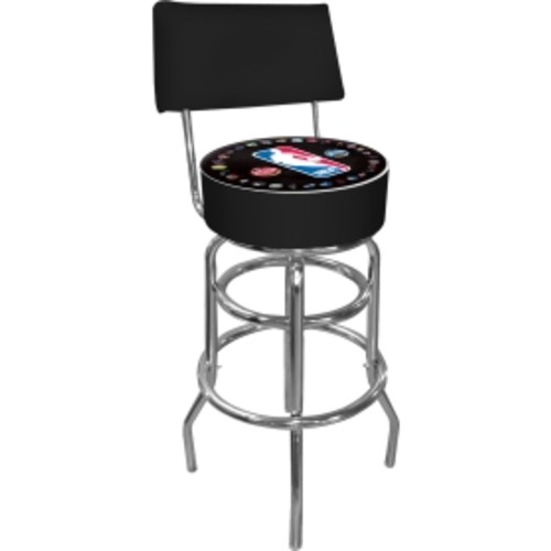 Trademark Games NBA League Padded Swivel Bar Stool with Back