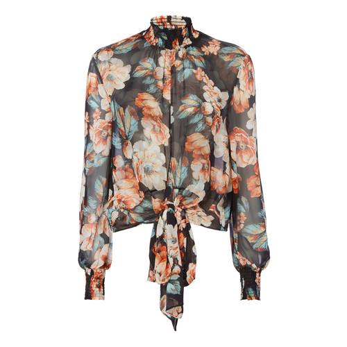 NICHOLAS Tie Front Floral Blouse