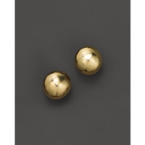 Glamazon 18K Gold Hammered Ball Stud Earrings