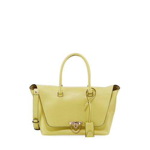 VALENTINO Demilune Leather Double-Handle Tote Bag