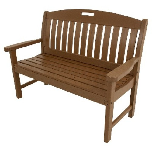 Hanover Avalon 48 in. Teak All-Weather Patio Porch Bench