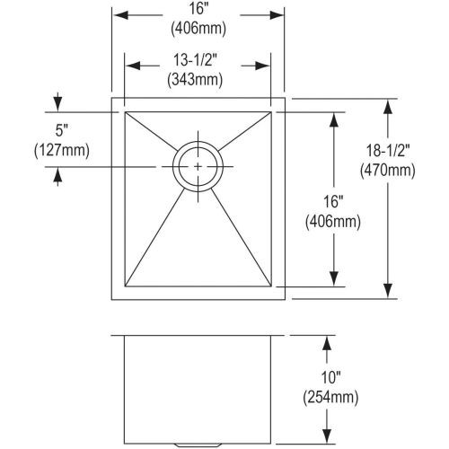 Elkay Avado 16'' x 18.5'' Single Bowl Sink Set