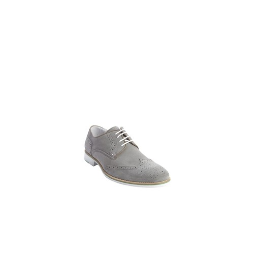 Kenneth Cole New York light grey suede contrasting laces Social Ladder oxfords