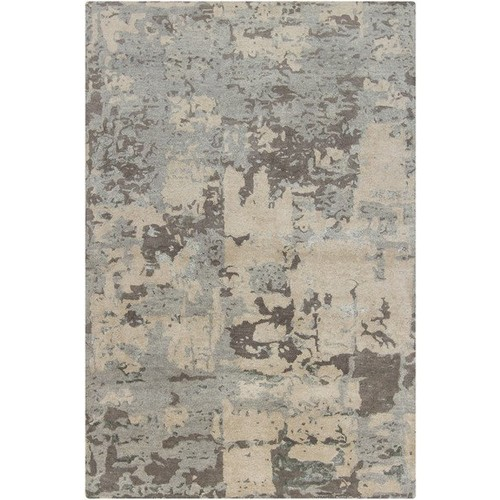 Rupec Collection Wool and Viscose Area Rug in Grey and Cream design by Chandra rugs - 5' x 7' 6\