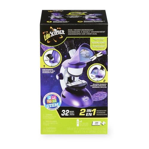 Edu Science Dual Viewer Microscope Set - Purple