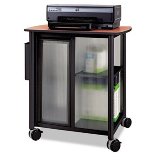 Safco Products 5377BL Impromptu Personal Mobile Storage Center, Cherry Top/Black Frame [Black]