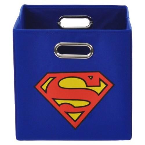 Superman Logo Folding Storage Bin - Blue