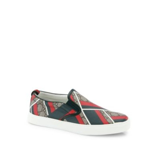GUCCI Dublin Chevron Slip-On Sneakers