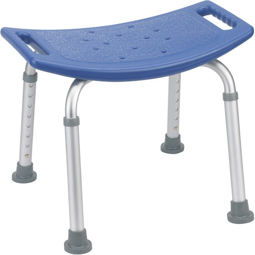 Drive Medical Blue Bathroom Safety Shower Tub Bench Chair