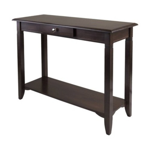 Winsome Wood Nolan Cappuccino Console Table