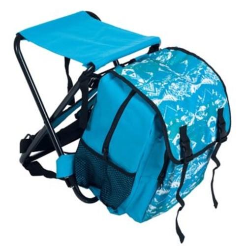 Stalwart Folding Stool and Backpack Combo, Blue
