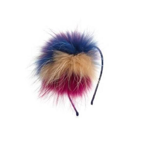 Girl's Fox Fur Crystal Headband