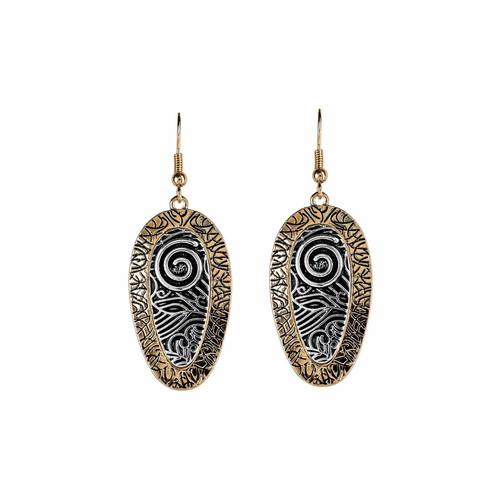 Two-Toned Peacock Earrings