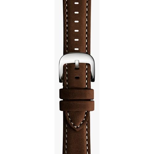 20mm Dark Nut Brown Leather Strap