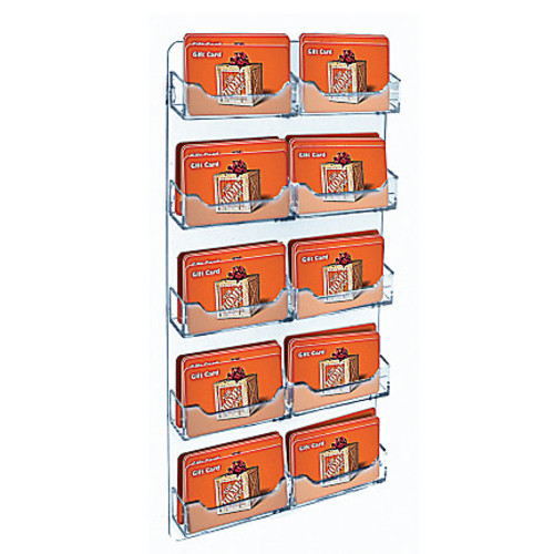 Azar Displays Business And Gift Card Holders, 10 Pockets, Wall Mount, 10