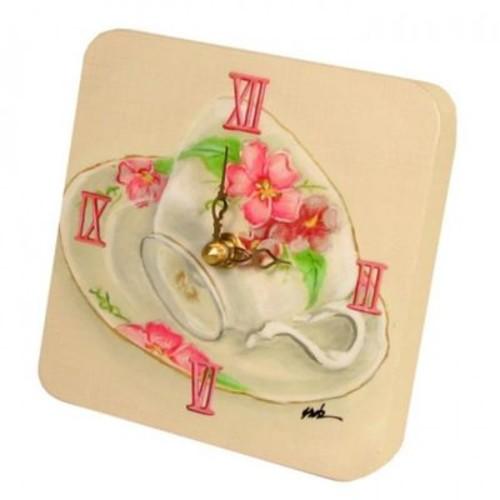 Lexington Studios Pink Tea Cups Tiny Times Clock (LXNGS380)