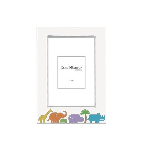 Reed & Barton Jungle Parade Silver Metal 4-inch x 6-inch Frame