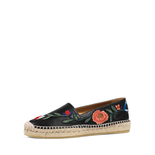 GUCCI Pilar Embroidered Espadrille F