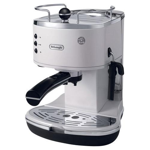 DeLonghi - 15-Bar Pump-Driven Espresso Maker - White