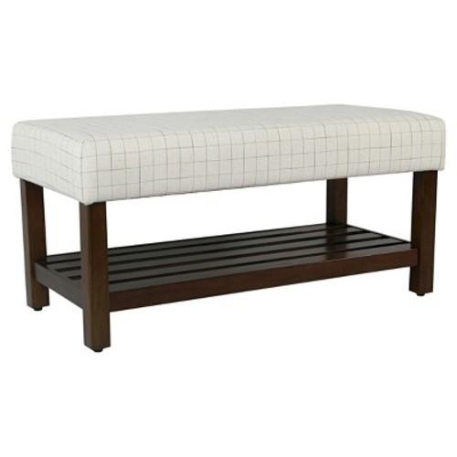 Decorative Bench with Storage - HomePop