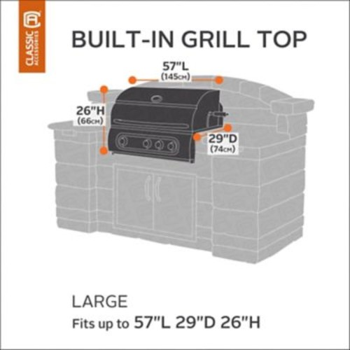 Classic Accessories Ravenna Built-In Grill Cover; Large