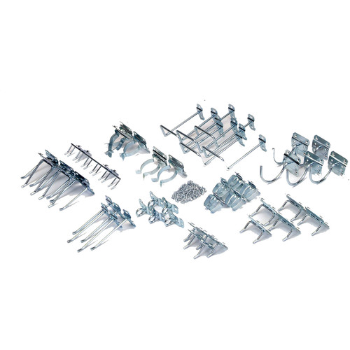 Triton Products LH1-KIT LocHook 46-Piece Zinc Plated Steel Hook Assortment for Locboard