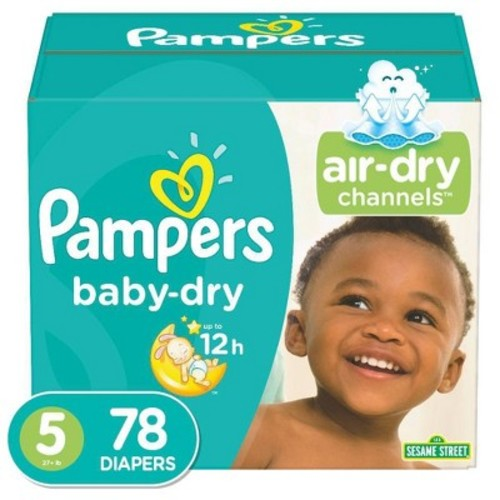 Pampers Baby Dry Diapers Super Pack Size 5 (78 ct)