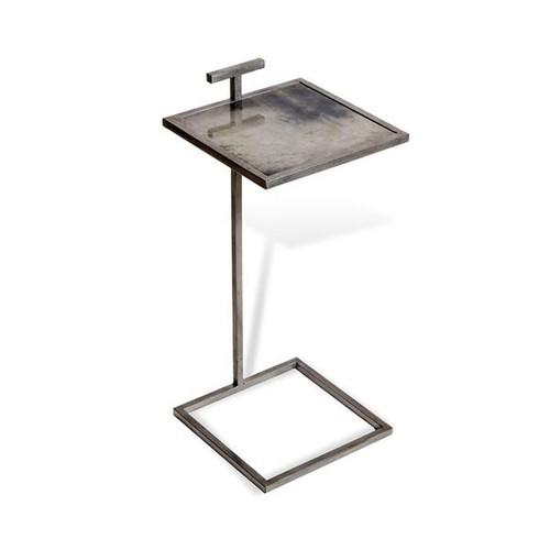 Soren Square Drink Table in Grey Vellum design by Interlude Home