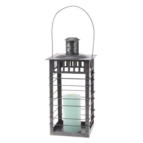 Stonebriar Collection Industrial Metal Lantern