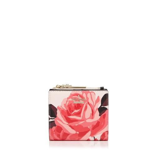 KATE SPADE NEW YORK Cameron Street Roses Adalyn Leather Wallet