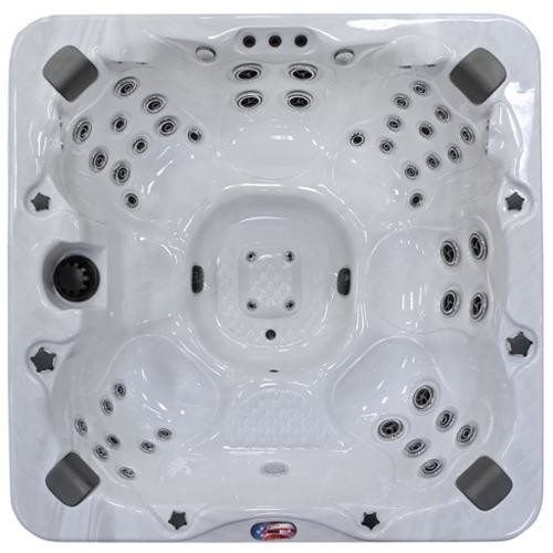 American Spas 6-Person 56-Jet Bench Spa with Bluetooth Stereo System with Subwoofer and Backlit LED Waterfall