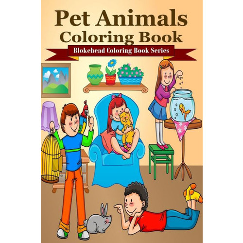 Pet Animals Coloring Book
