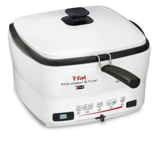 T-fal Versalio 2 L 7-in-1 Multi Cooker and Fryer, White (FR490051)