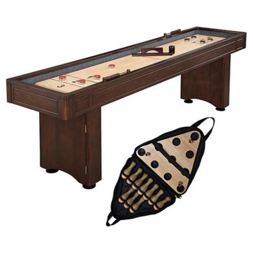 Hathaway Austin 9 feet Shuffleboard Table with 10-Pin Bowling Set