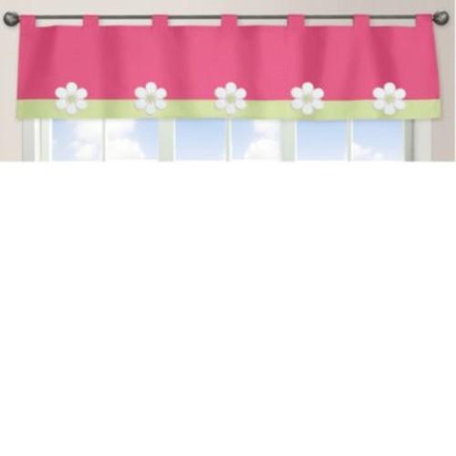 Sweet Jojo Designs Flower Window Valance in Pink/Green