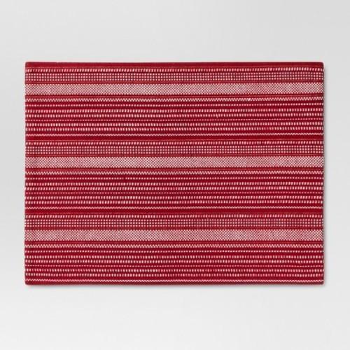 Red Metallic Stripe Placemat - Threshold
