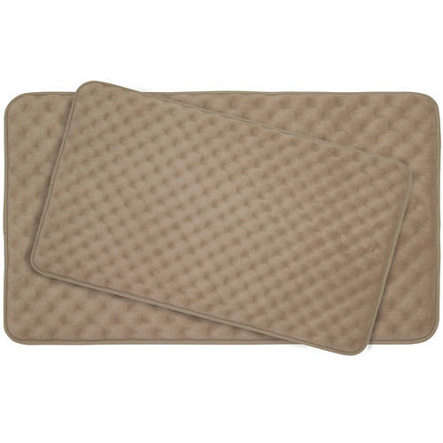 BounceComfort Massage Marine Blue Memory Foam 2-Piece Bath Mat Set